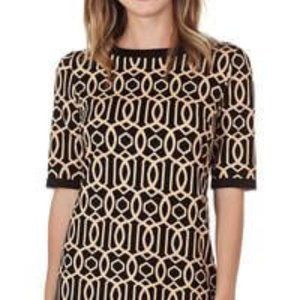 Louisa Shift Dress in Leopard Camel